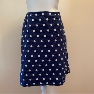 •Talbots• Embroidered Polka Dot Pencil Skirt-Size6